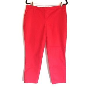 Dalia Cropped Red Pants